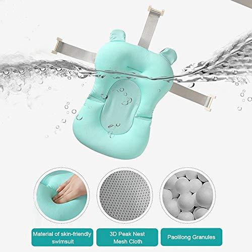 MOGOI Baby Bath Tub Pillow, Baby Bath Seat Floating Anti-Slip Bath Cushion Soft Seat Bathtub Support For Newborn 0-12 Months 1