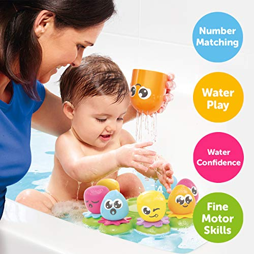 TOMY Toomies Octopals Number Sorting Baby Bath Toy | Educational Water Toys For Toddlers | Suitable For 1, 2 & 3 Years Old Boys & Girls 1