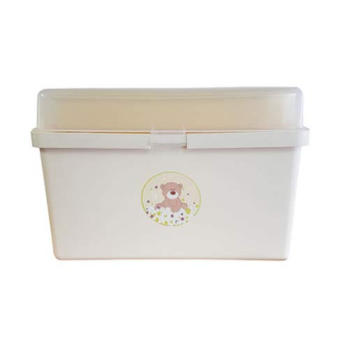The neat nursery Teddy Bear Baby Box Organiser Cream and Yellow 1