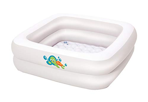 Rotho Babydesign TOP Xtra Large Bath Tub, With 2 Anti-Slip Mats and Drain Plugs, Ideal for 2 Children, 0-36 Months, TOP Xtra, White, 205000001 1