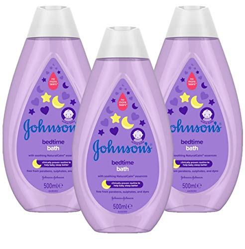 JOHNSON'S Bedtime Bath Multipack – Gentle and Mild for Delicate Skin and Everyday Use – NaturalCalm Aromas – 3 x 500 ml