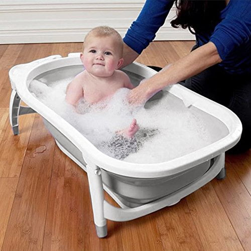 Stokke Flexi Bath XL – Large Bath tub for Babies, Toddlers & Children – Extremely Light and Collapsible – Colour: XL White Grey