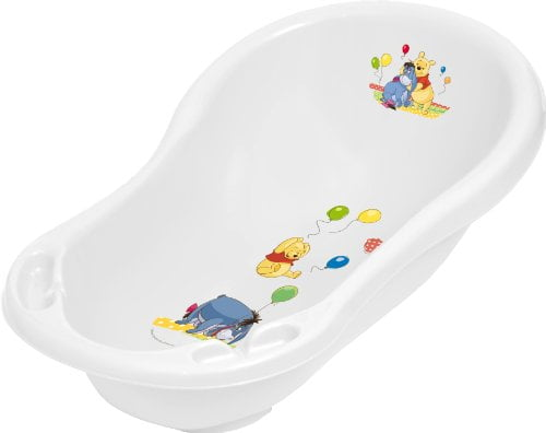 Disney Winnie the Pooh and Friends 84 cm Baby Bath Tub with plug and soap holders- White 25