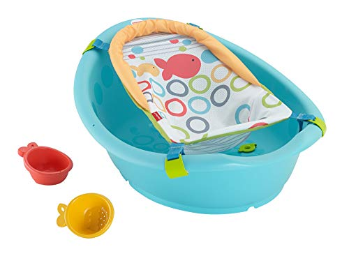 Fisher-Price Rinse and Grow Tub, Grows with Baby from New-born to Toddler with Two Positions and Easy Cleaning, from Birth 4